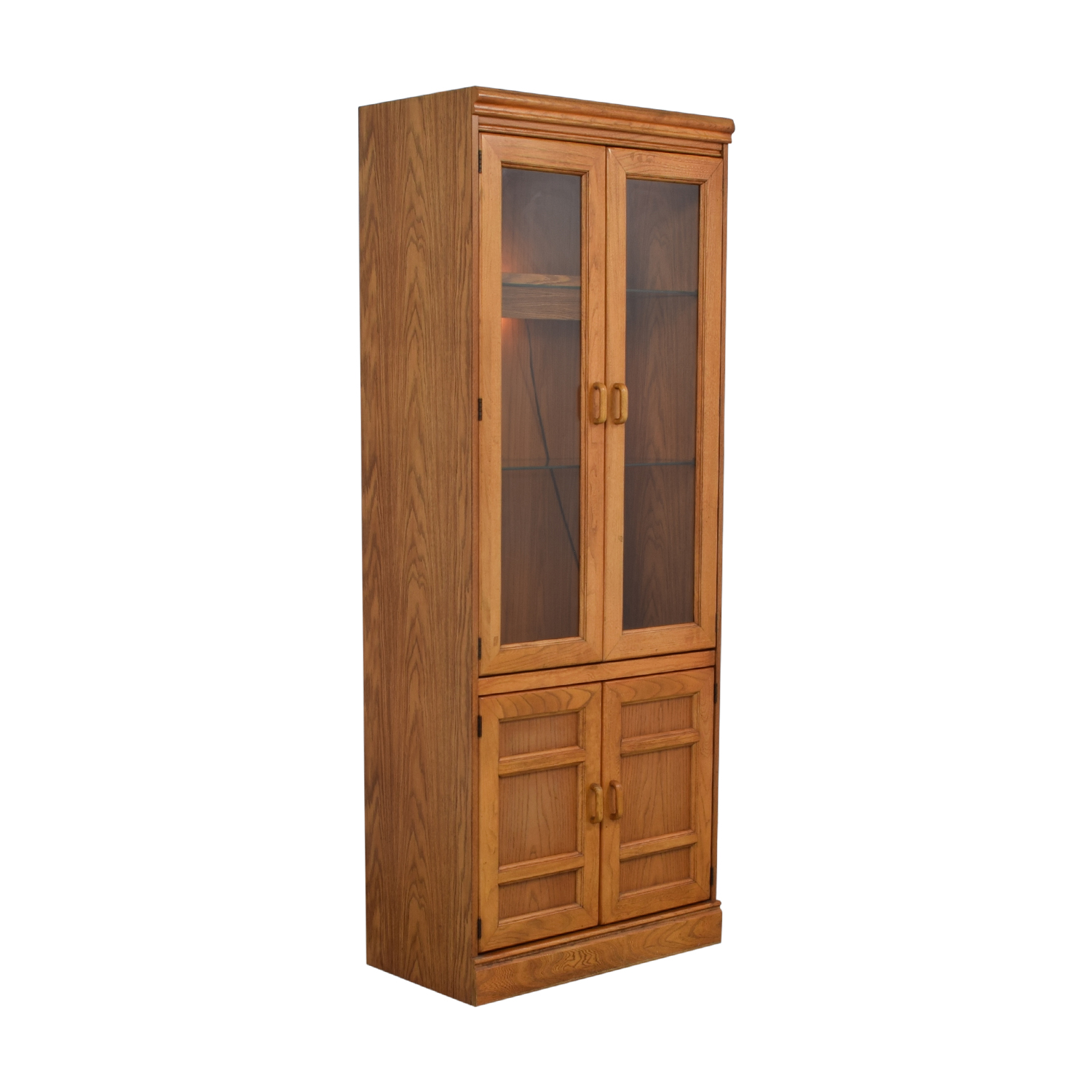 Macy's Wood and Glass China Cabinet second hand