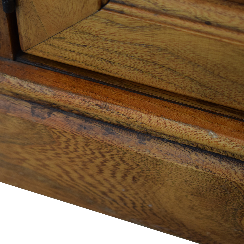 Macy's Wood and Glass China Cabinet Storage