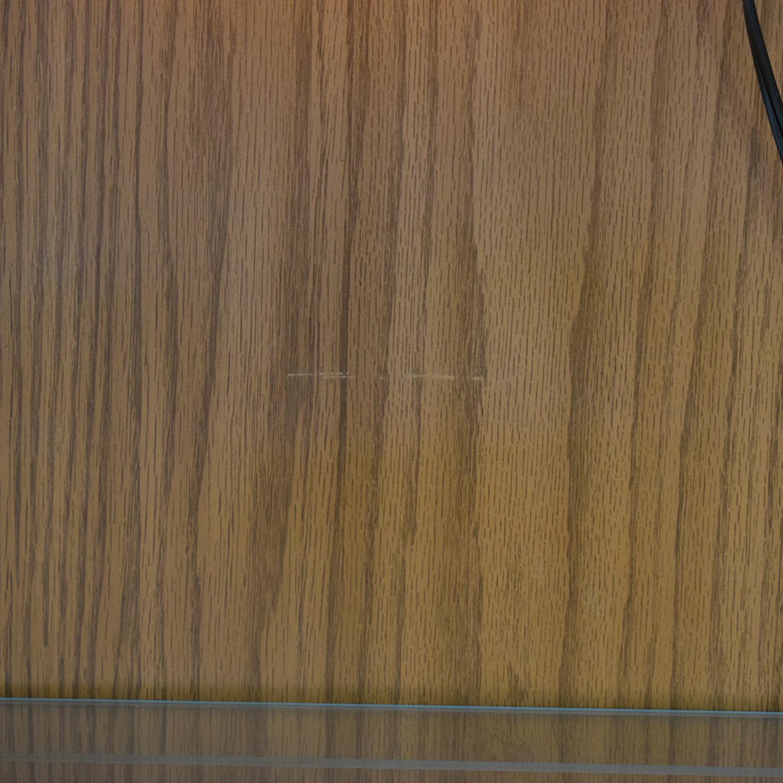 Macy's Wood and Glass China Cabinet nj