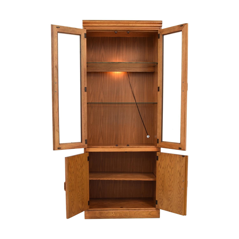 Macy's Wood And Glass China Cabinet / Storage