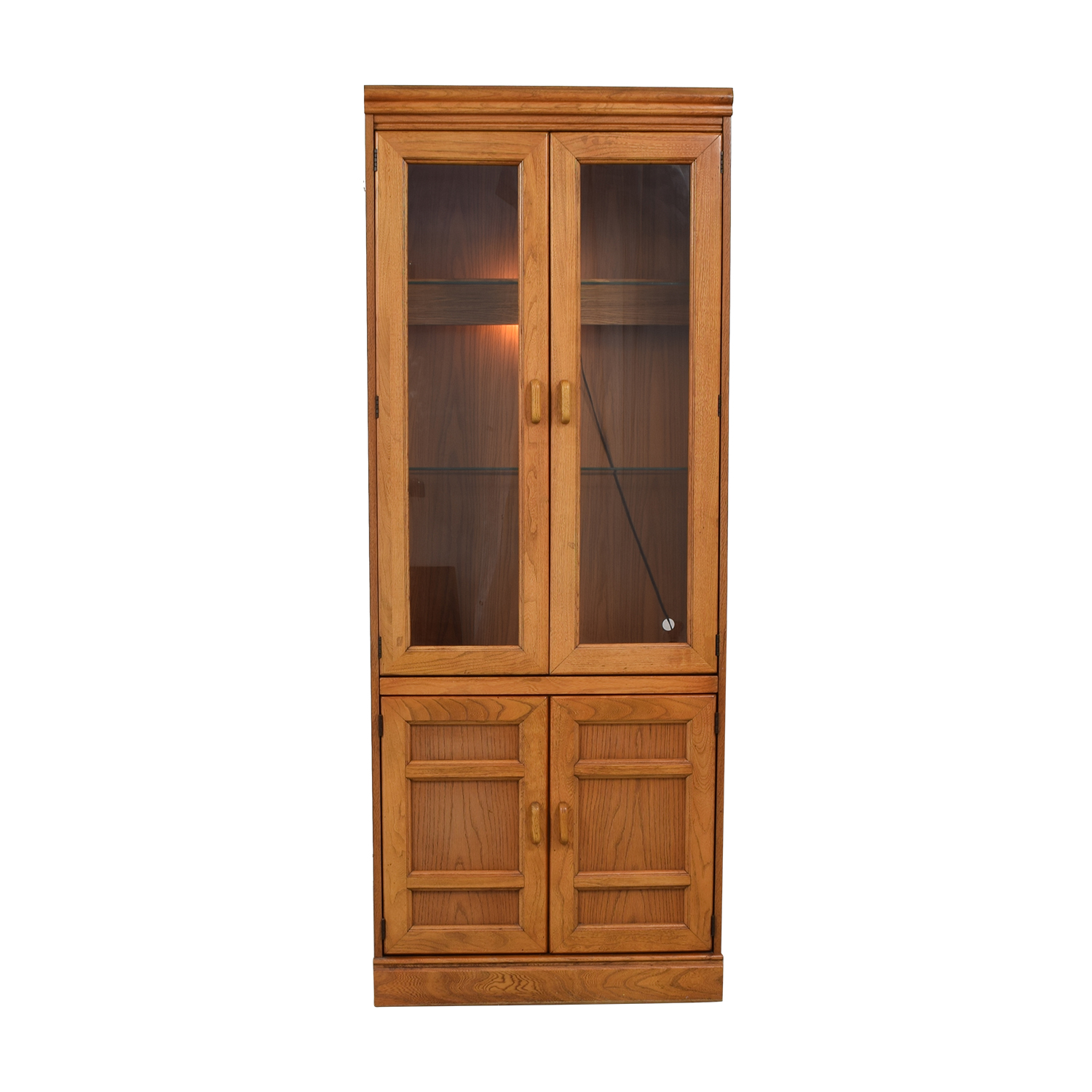 shop Macy's Wood and Glass China Cabinet  Sofas