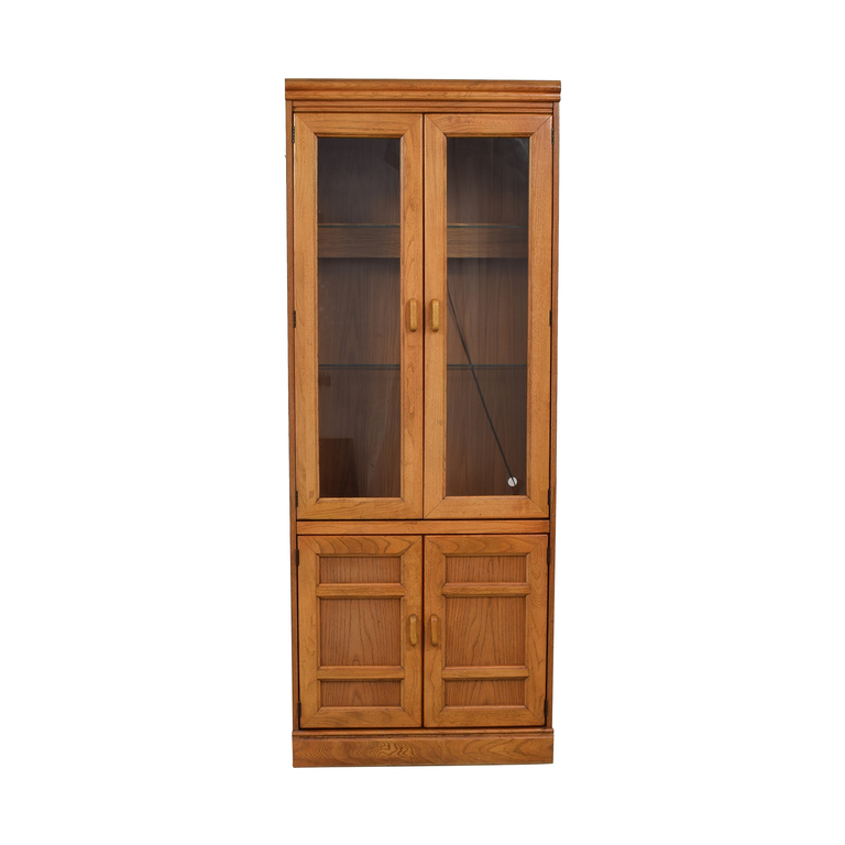 Macy's Wood and Glass China Cabinet on sale