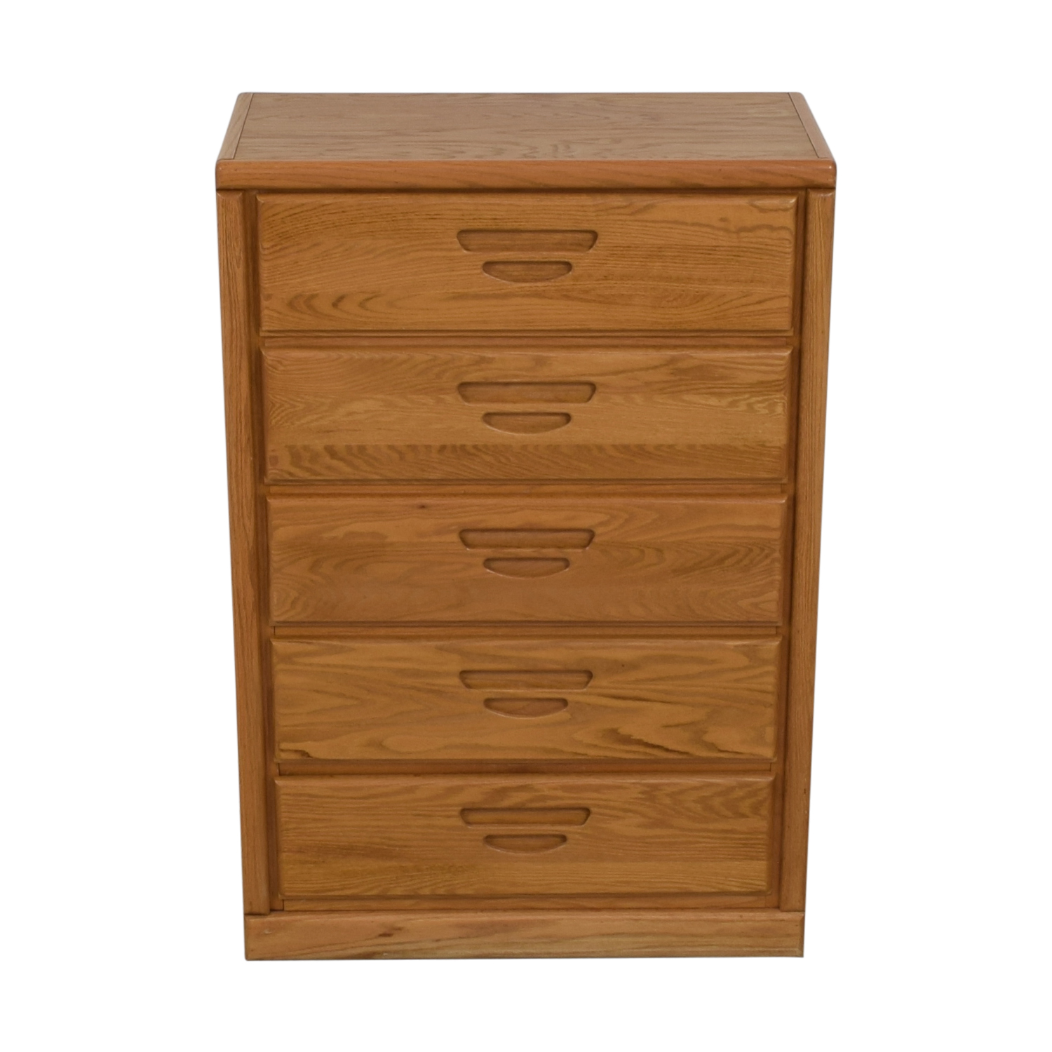 buy Oak Five-Drawer Tall Dresser
