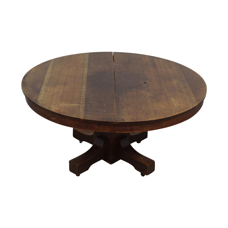 Expandable Oak Table dimensions