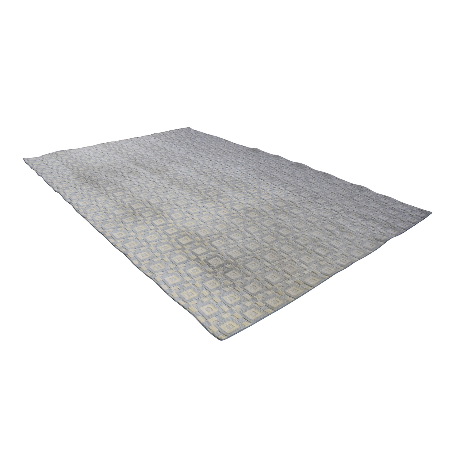 Gray and White 9x12 Natural Fiber Rug Rugs