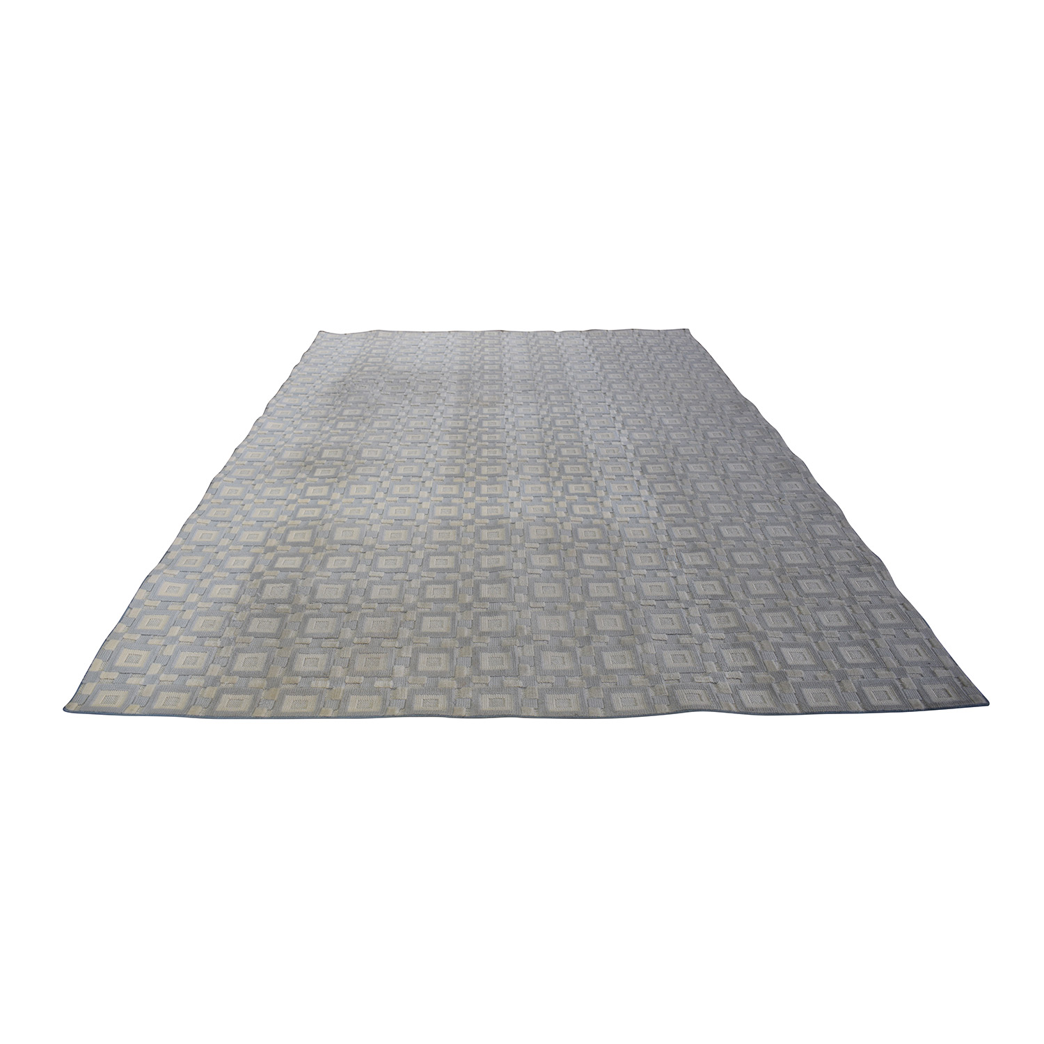 Gray and White 9x12 Natural Fiber Rug for sale