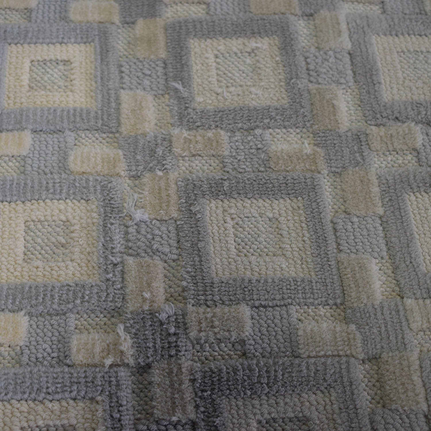 Gray and White 9x12 Natural Fiber Rug dimensions