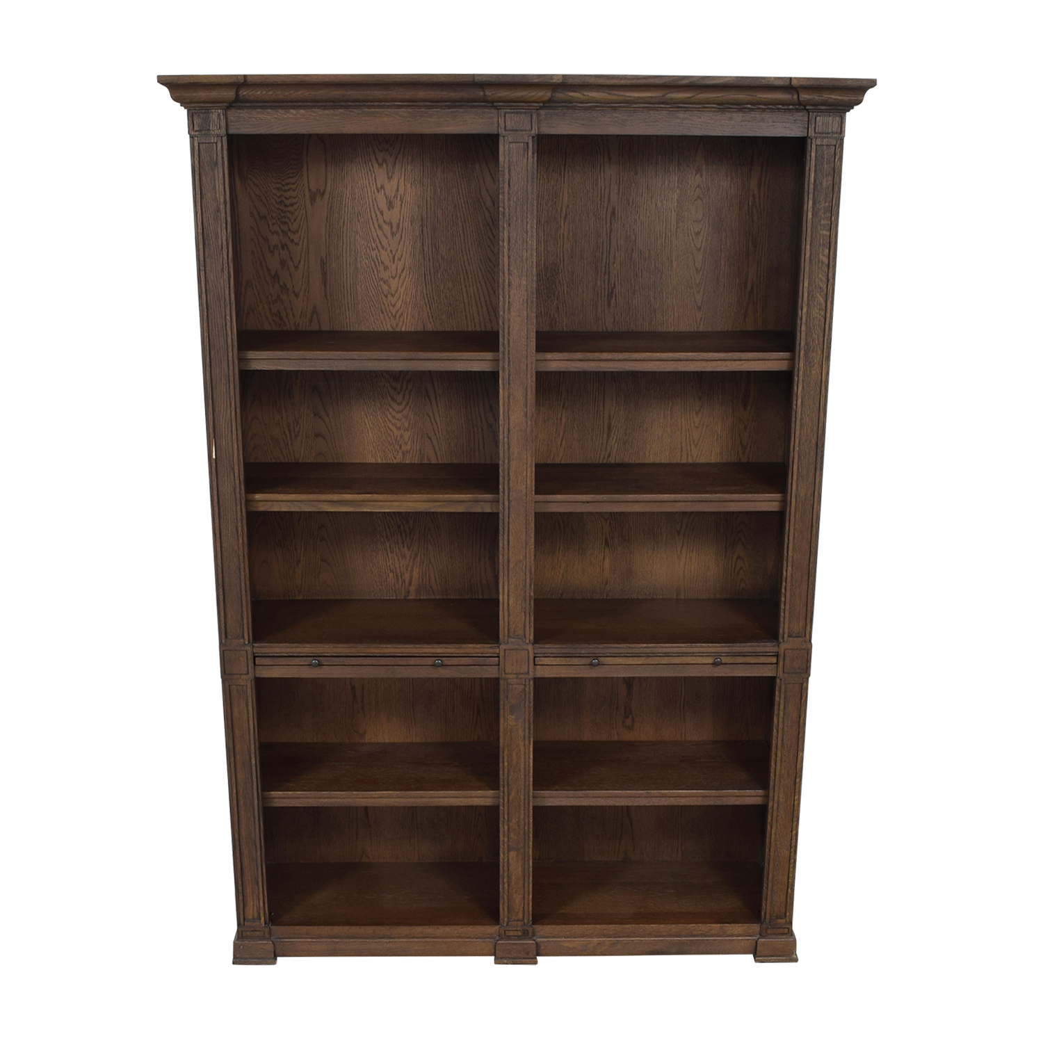 Restoration Hardware Restoration Hardware Wood Library Bookcase with Desk on sale