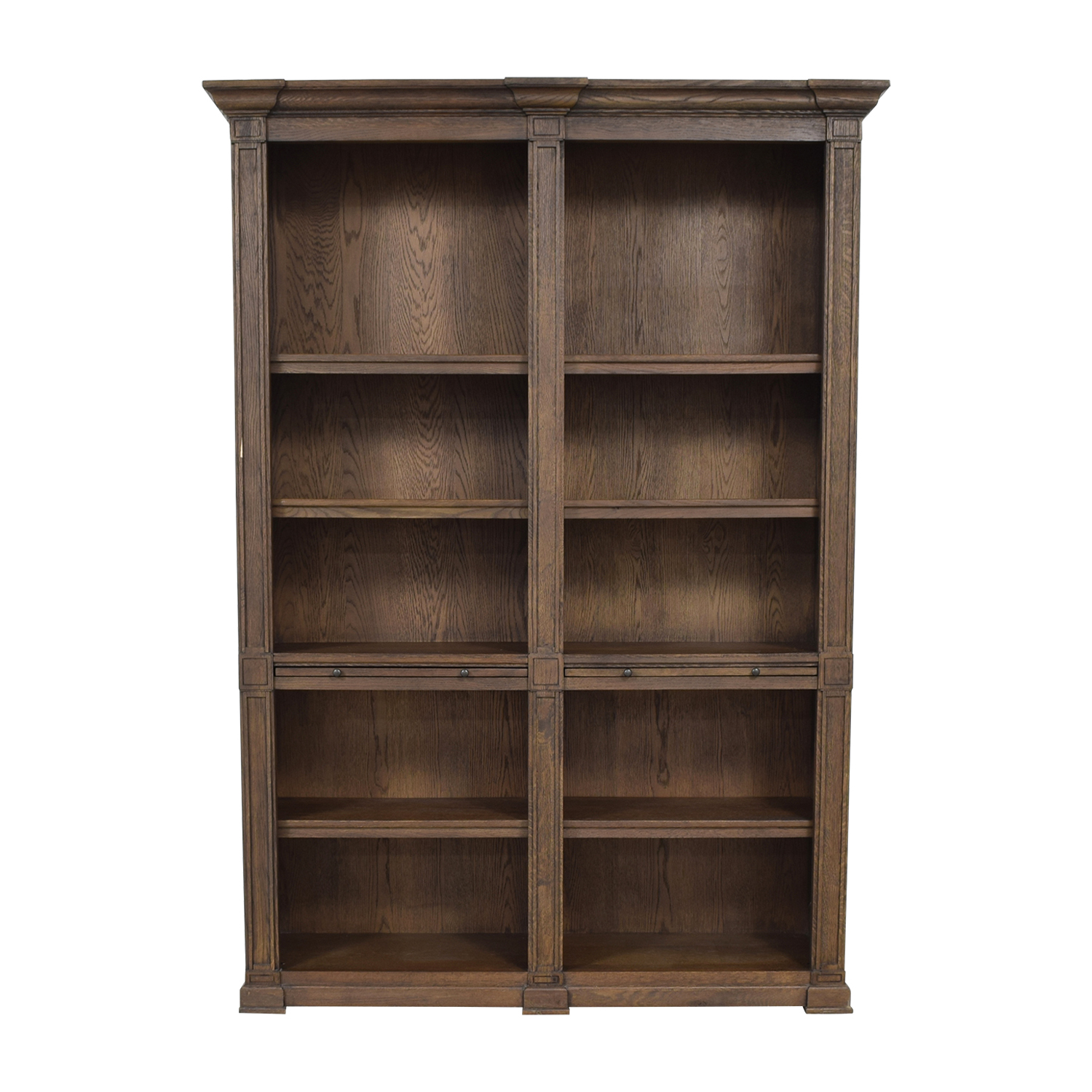 73 Off Restoration Hardware Restoration Hardware Wood Library Bookcase With Desk Storage