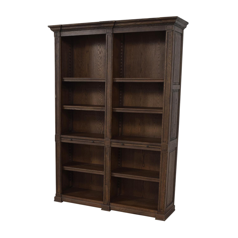 Restoration Hardware Restoration Hardware Wood Library Bookcase with Desk price