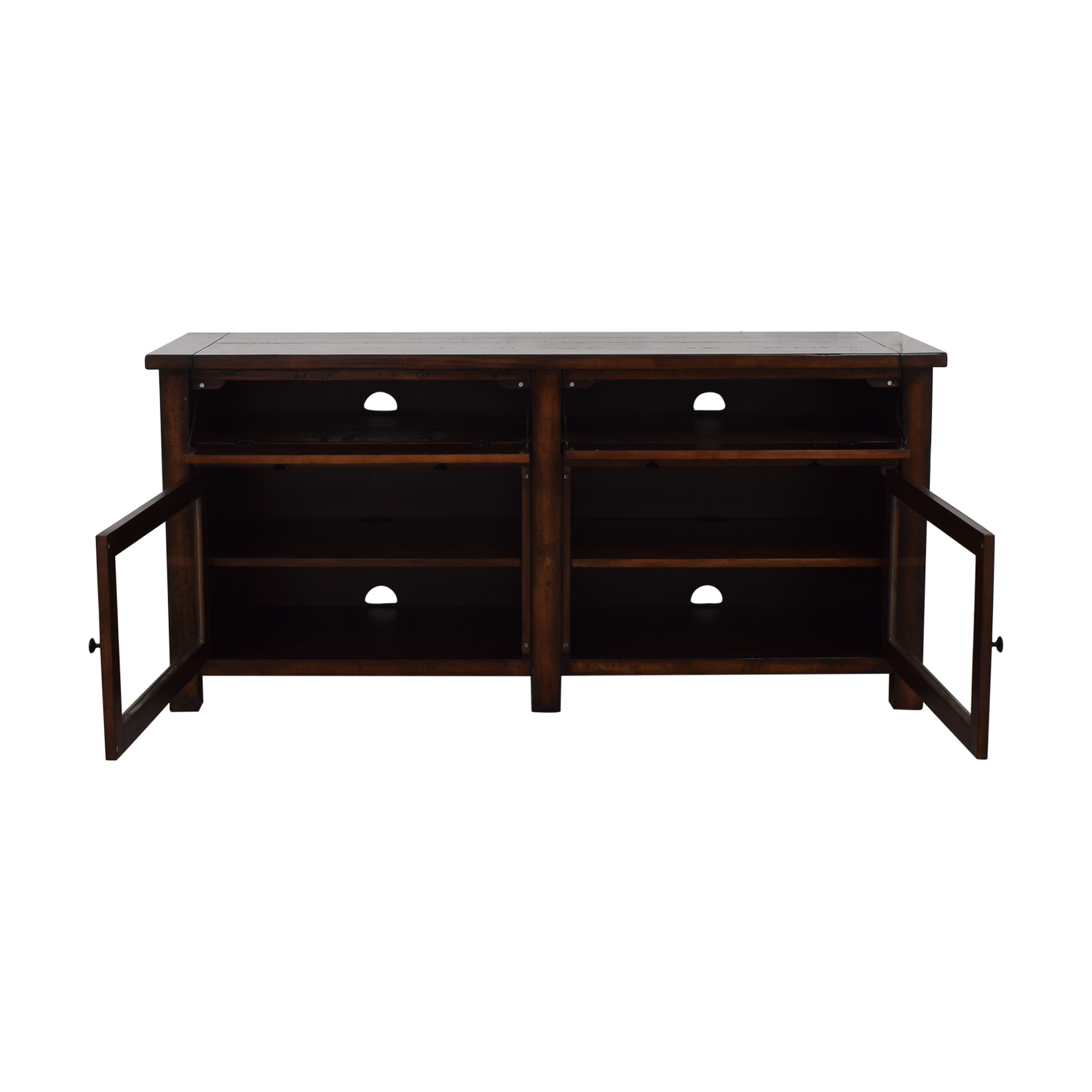 Pottery Barn Wood Media Stand sale