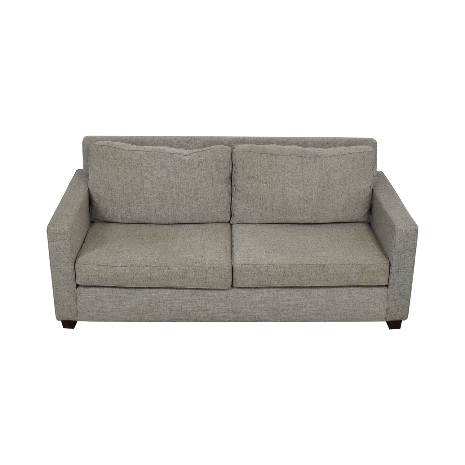 West Elm West Elm Henry Gray Two-Cushion Sofa on sale