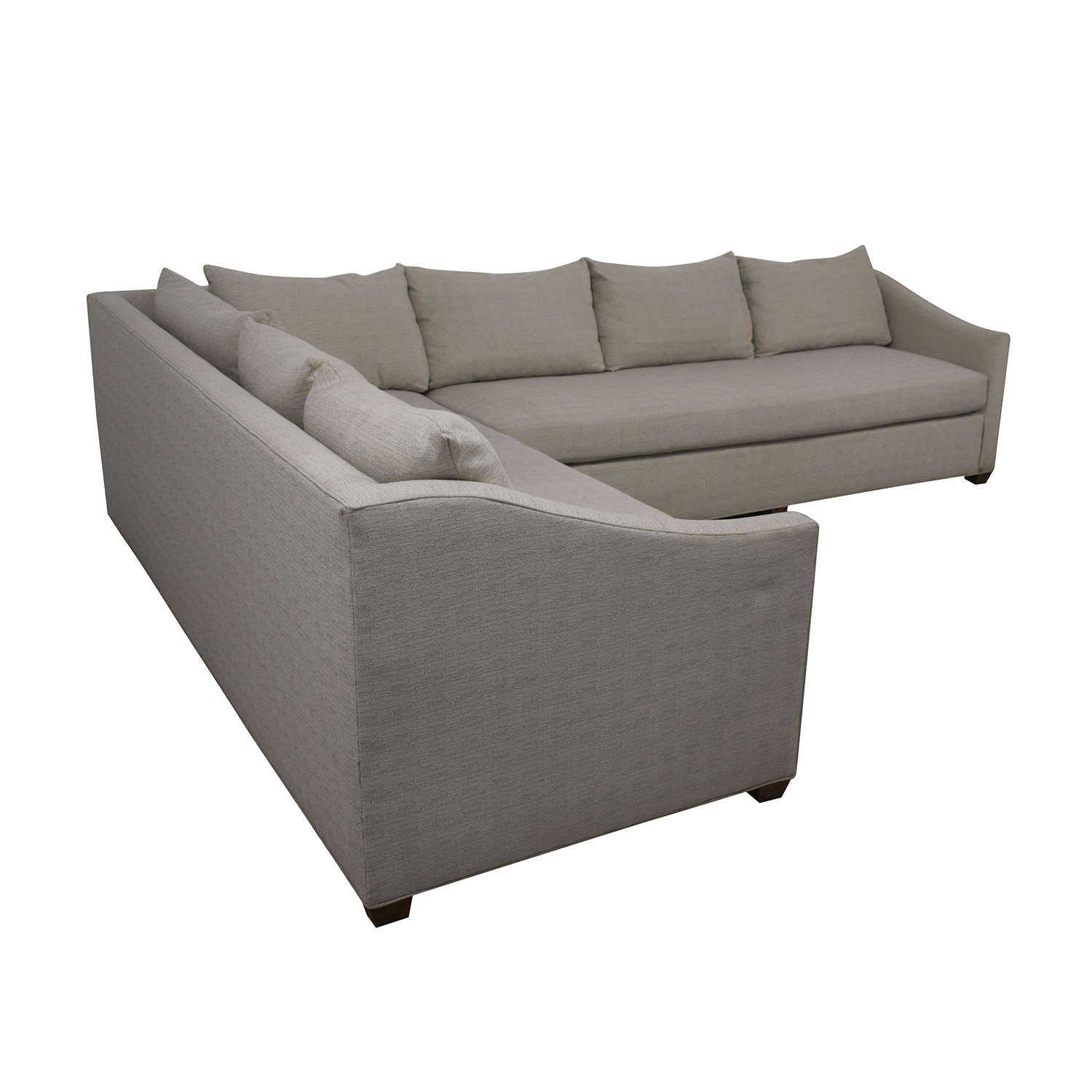 Enjoyable 84 Off Maiden Home Maiden Home Sullivan Grey L Shaped Sectional Sofas Download Free Architecture Designs Rallybritishbridgeorg