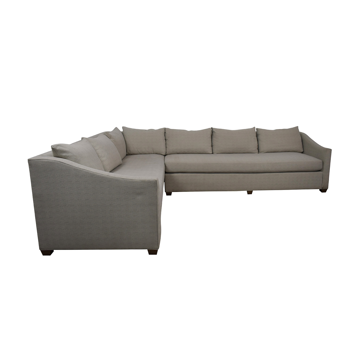 Maiden Home Maiden Home Sullivan Grey L-Shaped Sectional dimensions