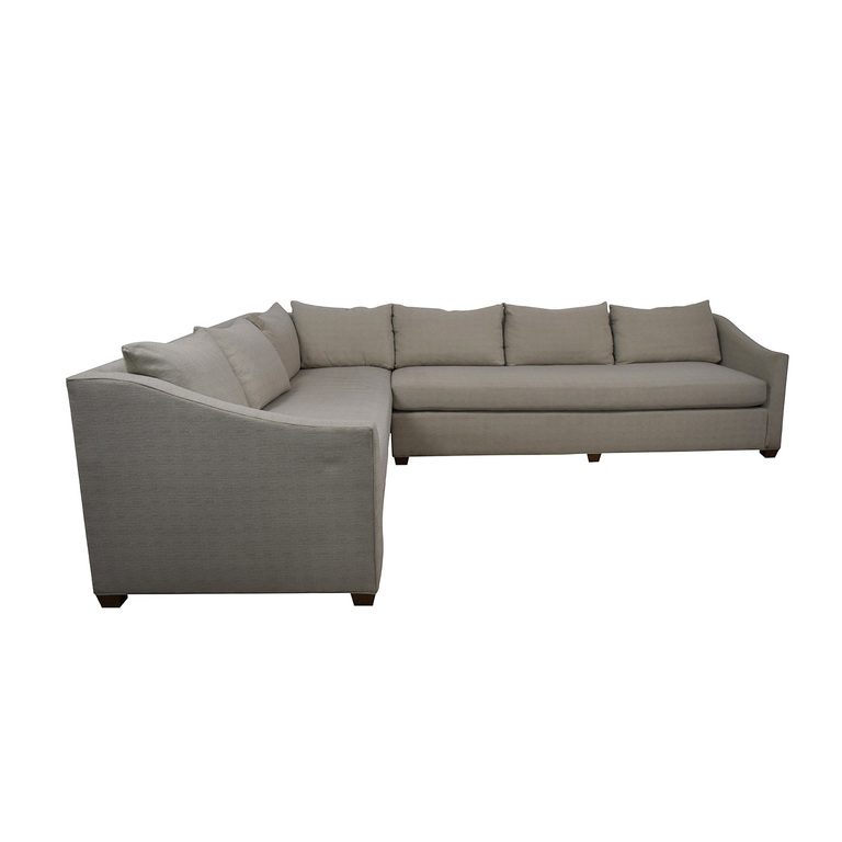 shop Maiden Home Sullivan Grey L-Shaped Sectional Maiden Home