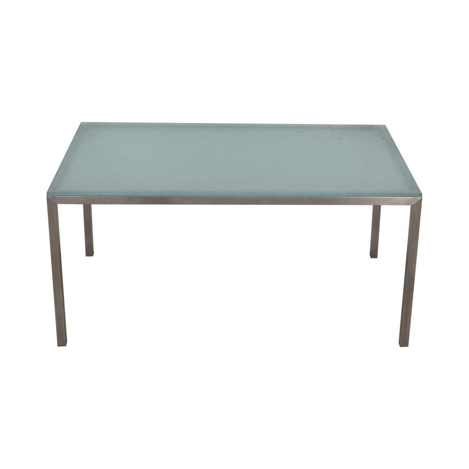 Room & Board Room & Board Portica Glass and Chrome Dining Table for sale