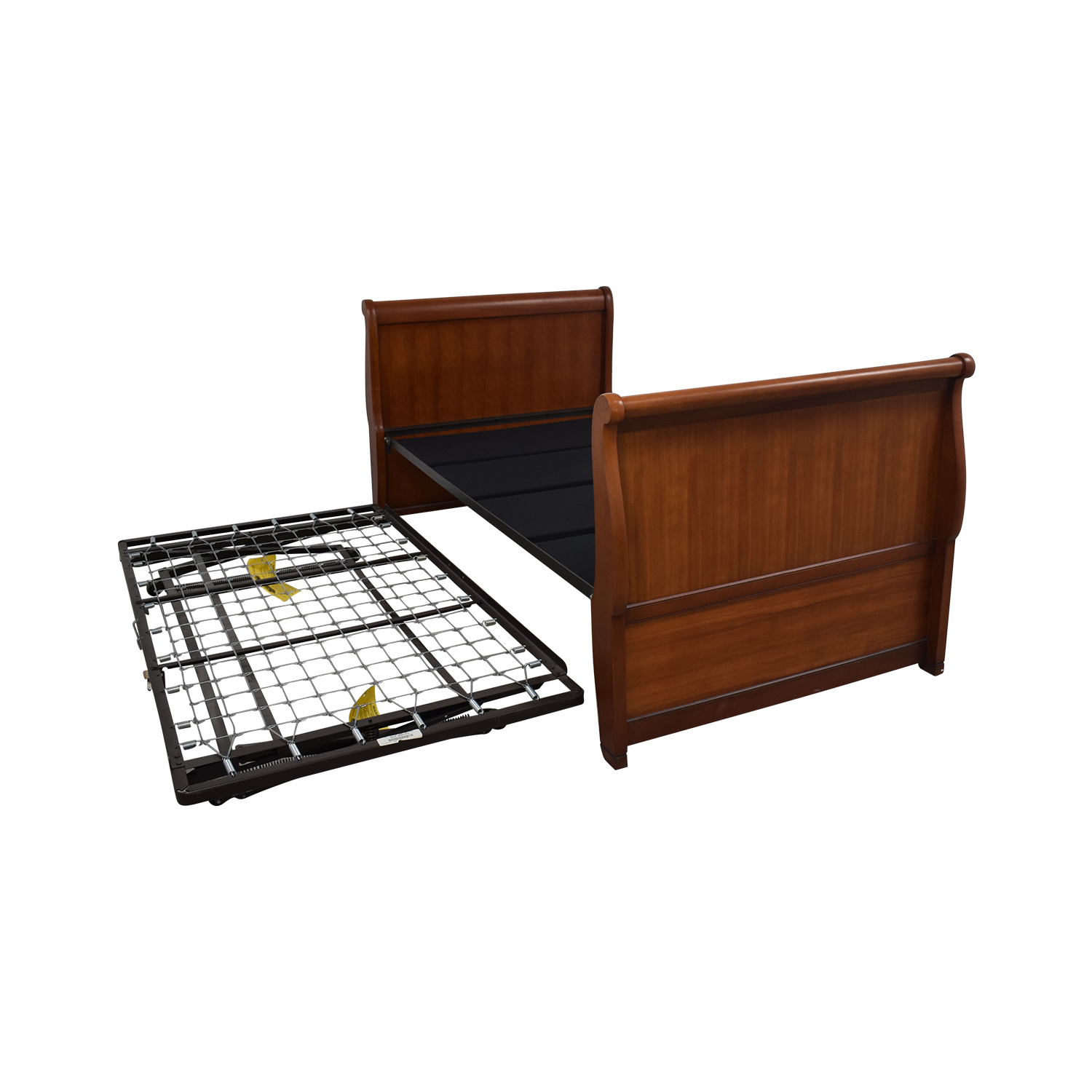 shop Charles P. Rogers Twin Sleigh Bed Frame with Trundle Charles P. Rogers