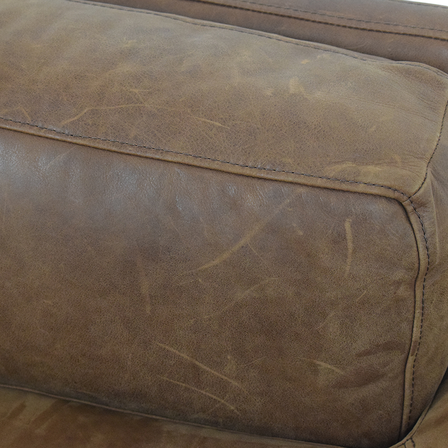 West Elm Dekalb Cognac Right Arm Chaise West Elm