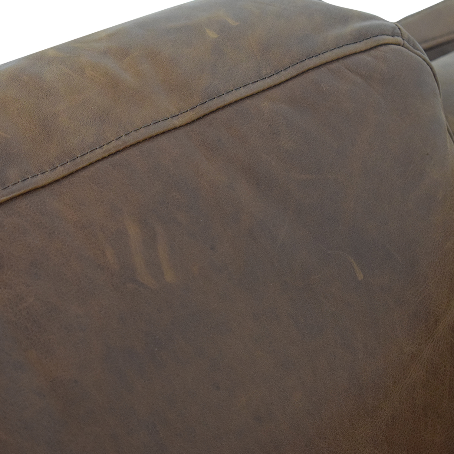 West Elm Dekalb Cognac Right Arm Chaise / Sofas
