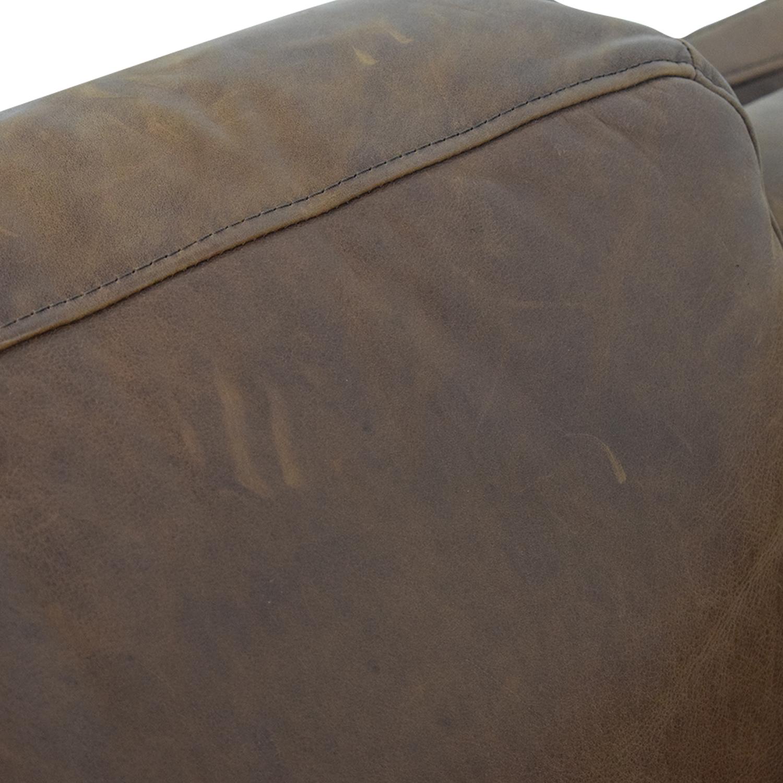 West Elm Dekalb Cognac Right Arm Chaise / Sofas