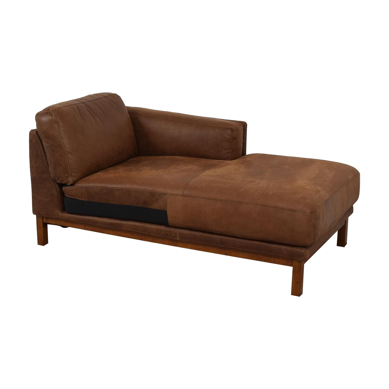 shop West Elm West Elm Dekalb Cognac Right Arm Chaise online