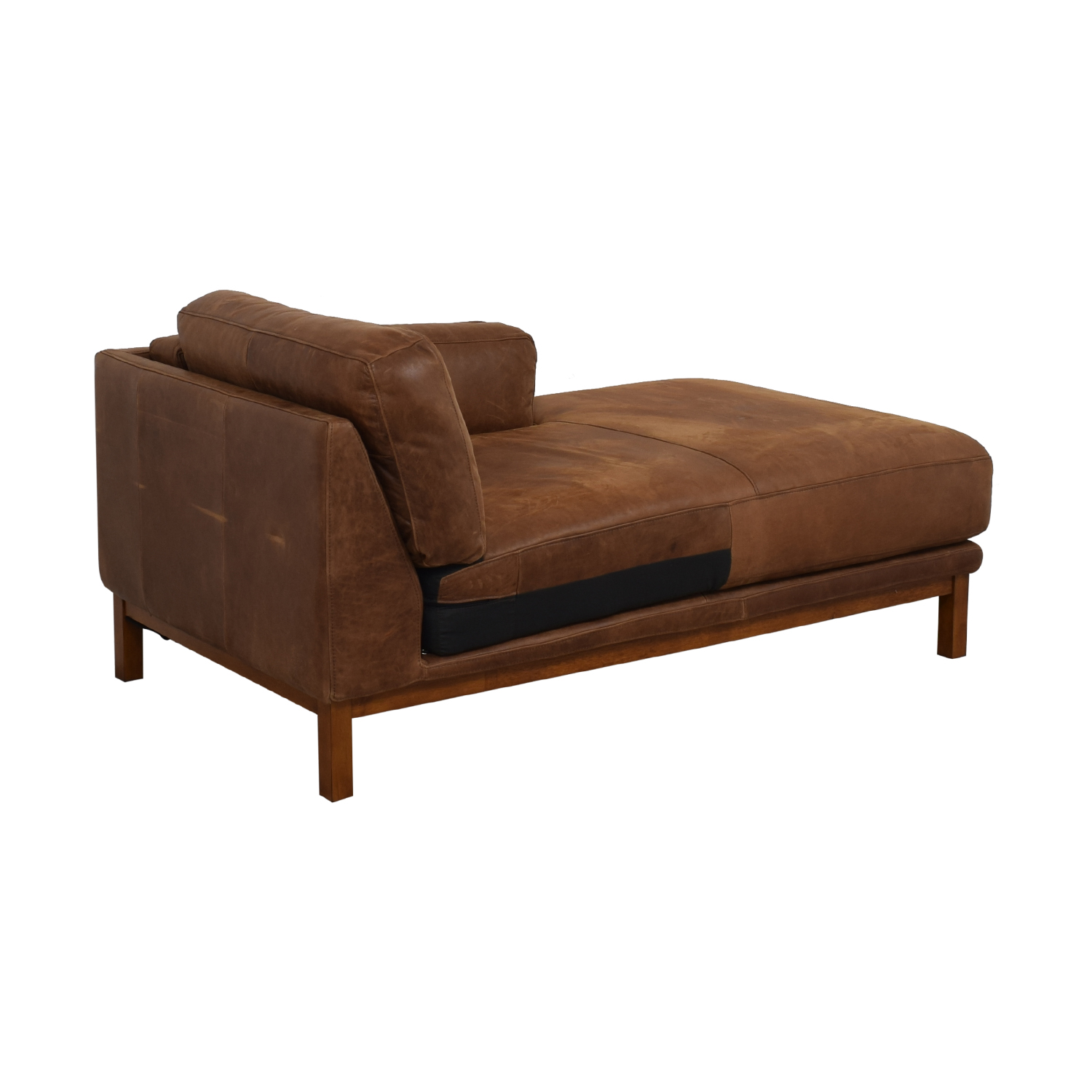West Elm West Elm Dekalb Cognac Right Arm Chaise