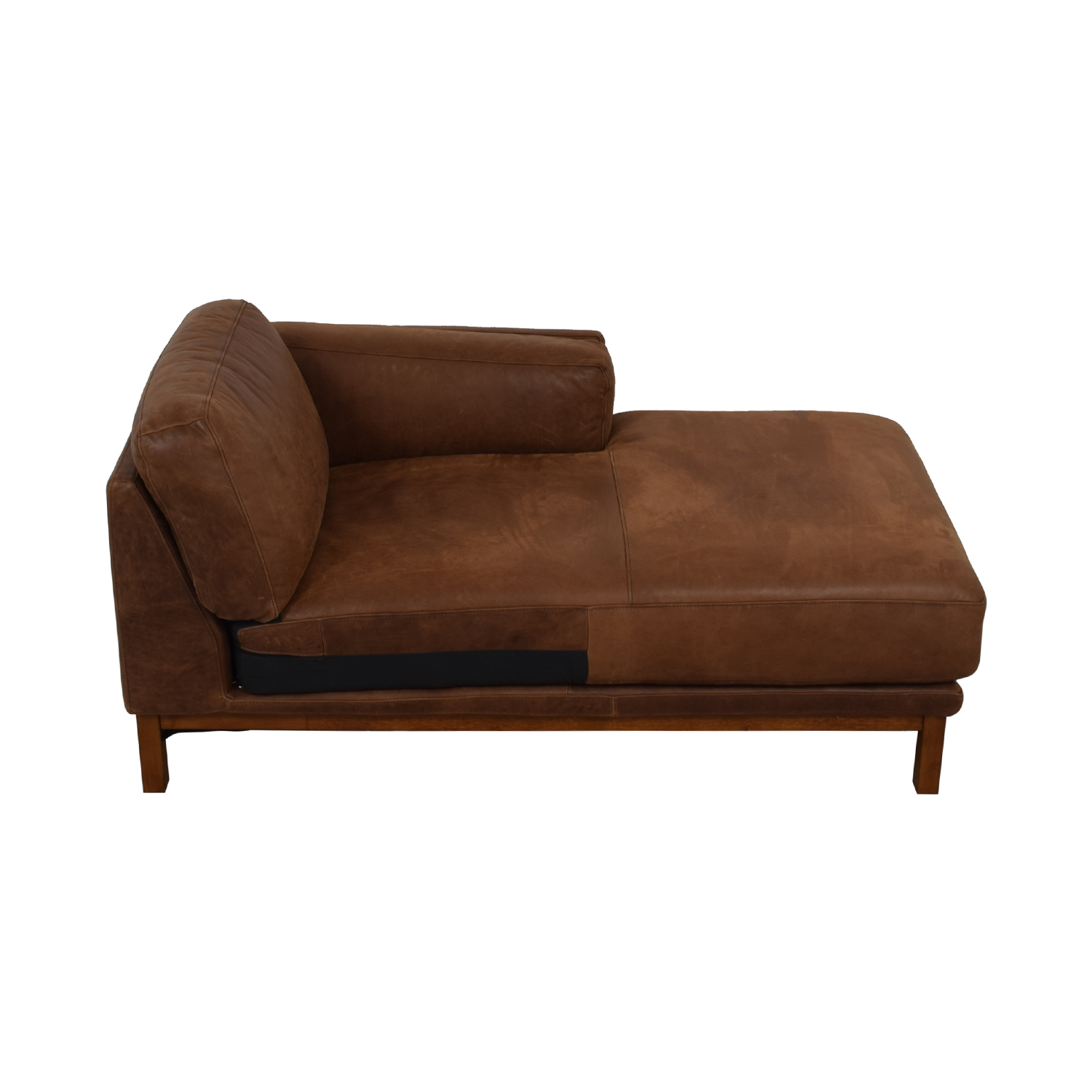 shop West Elm Dekalb Cognac Right Arm Chaise West Elm Accent Chairs