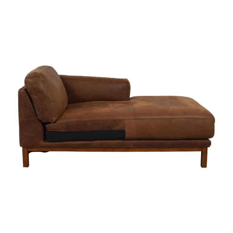 West Elm West Elm Dekalb Cognac Right Arm Chaise used