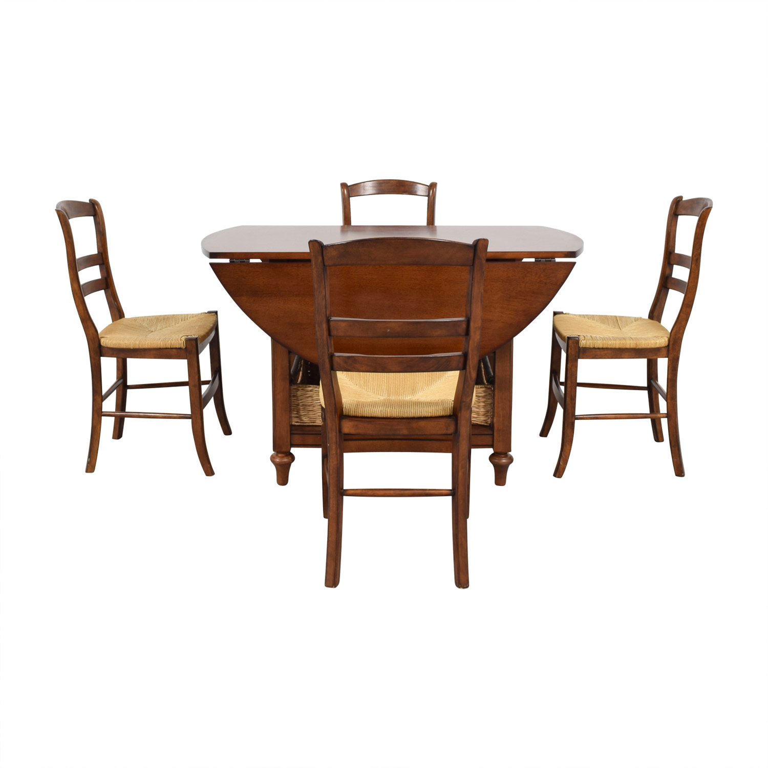 Pottery Barn Pottery Barn Shayne Drop Leaf Dining Set with Storage Baskets second hand