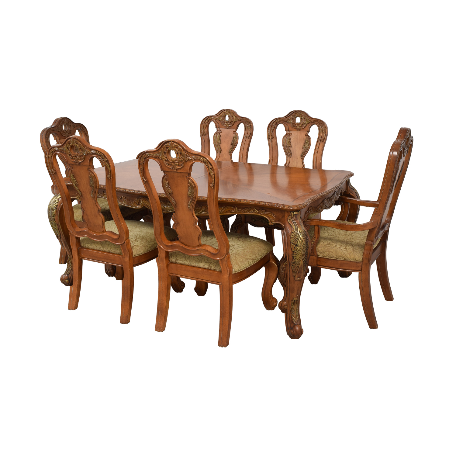 Raymour & Flanigan Raymour & Flanigan Extendable Wood Dining Set nyc