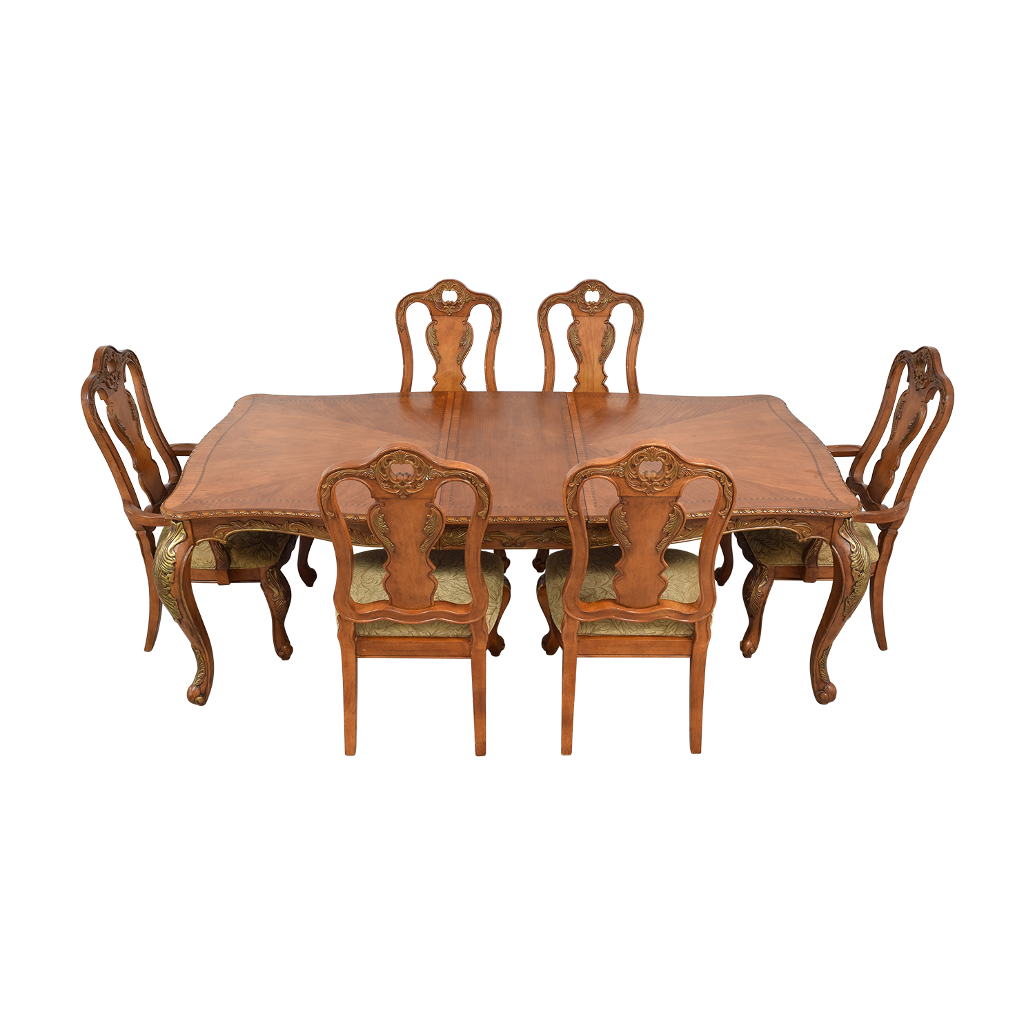 Raymour & Flanigan Extendable Wood Dining Set sale