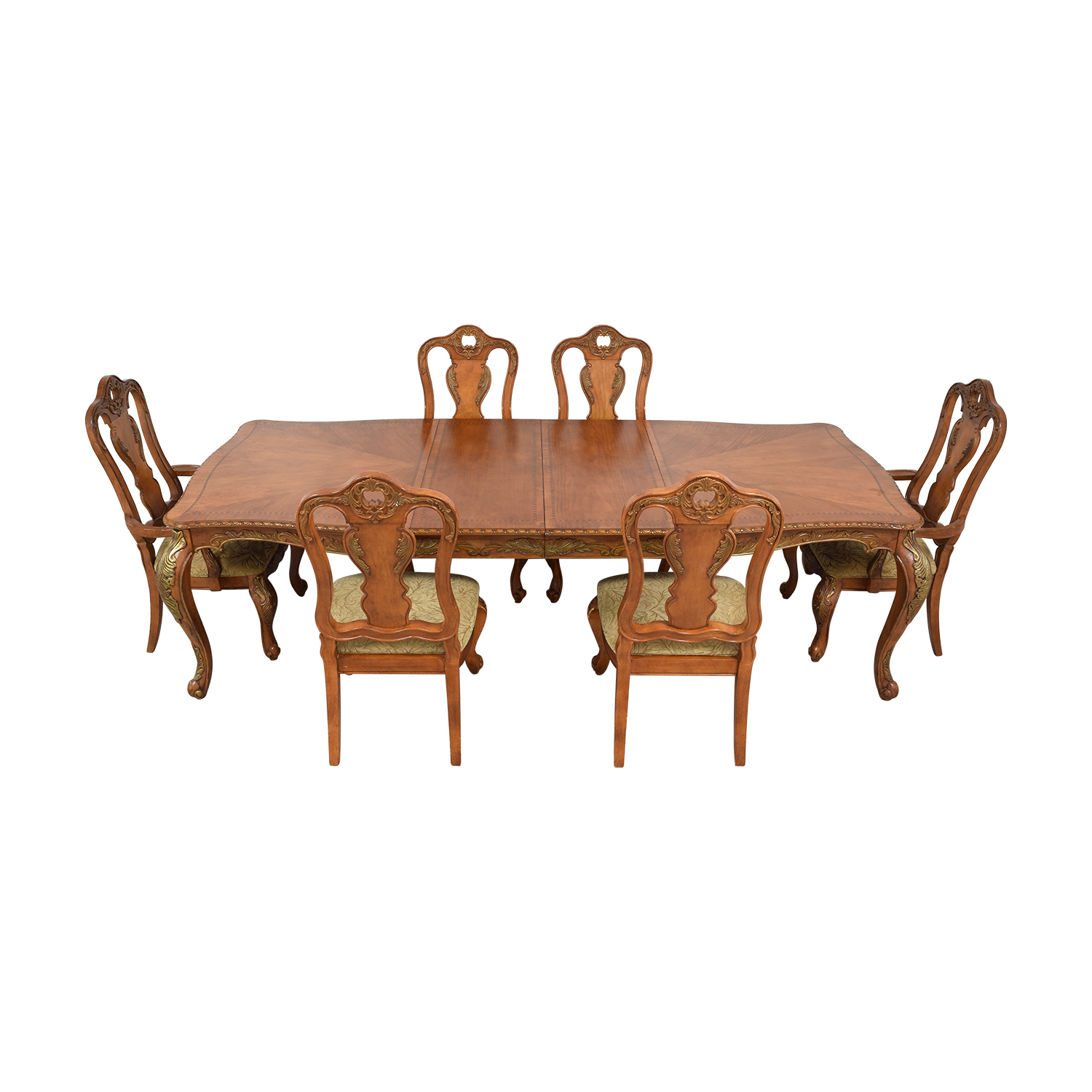 Raymour & Flanigan Raymour & Flanigan Extendable Wood Dining Set second hand