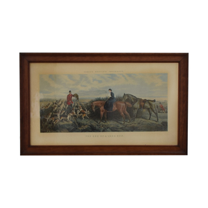 Framed End of a Long Run Hunt Print