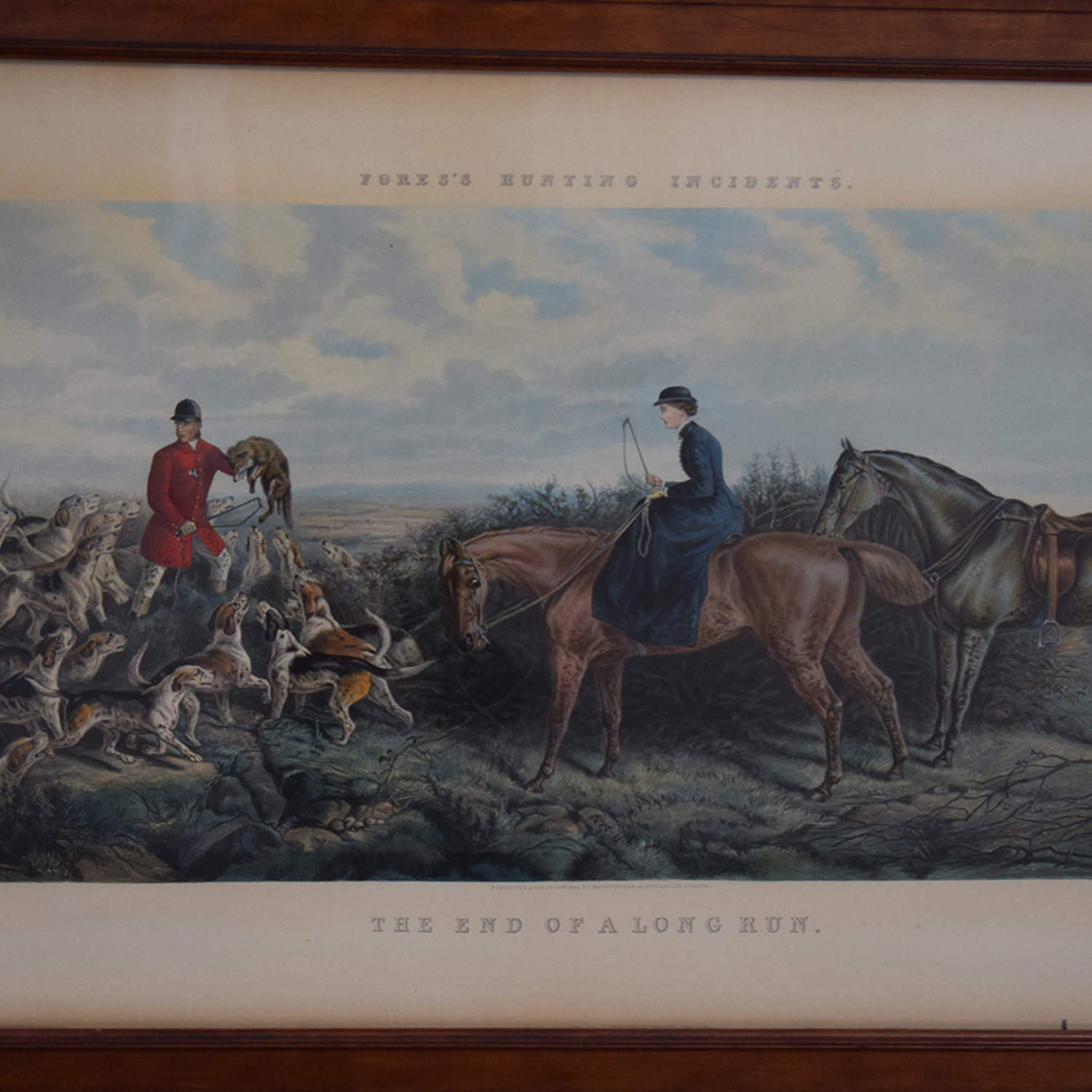 Framed End of a Long Run Hunt Print sale