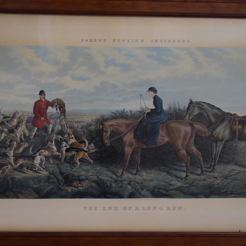 Framed End of a Long Run Hunt Print sale