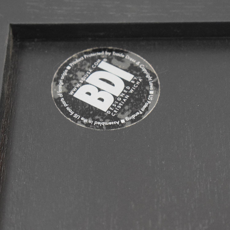 BDI BDI Wood Framed Floor Mirror black
