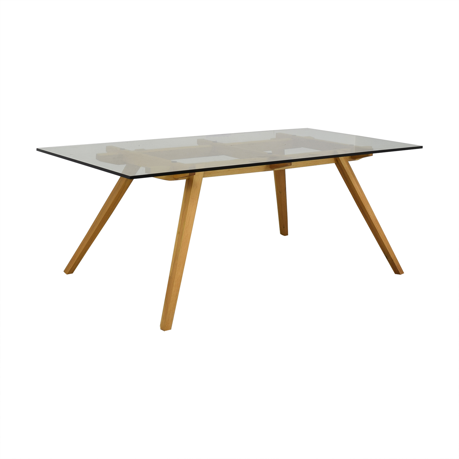 Organic Modernism Organic Modernism Recoleta Glass and Wood Dining Table Dinner Tables