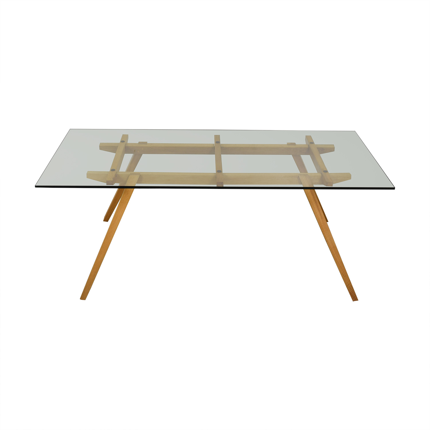 shop Organic Modernism Recoleta Glass and Wood Dining Table Organic Modernism