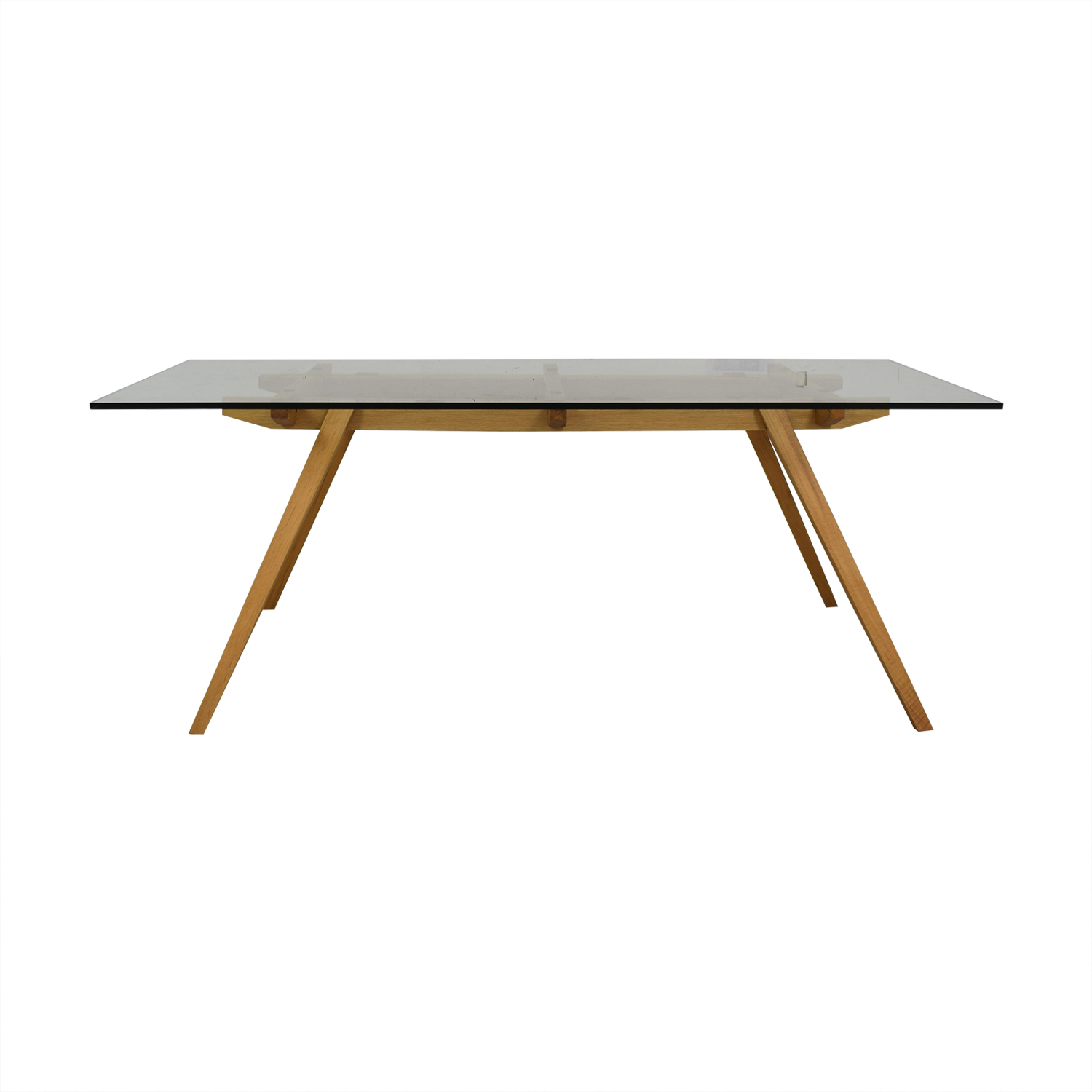 Organic Modernism Organic Modernism Recoleta Glass and Wood Dining Table nj