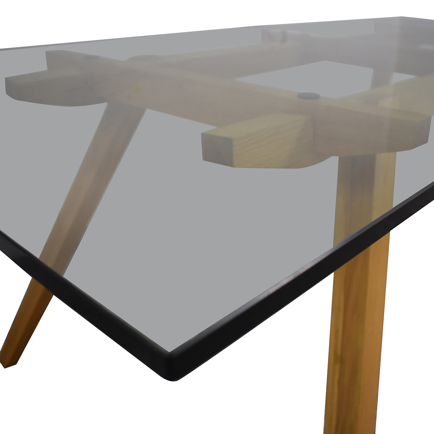 Organic Modernism Organic Modernism Recoleta Glass and Wood Dining Table coupon