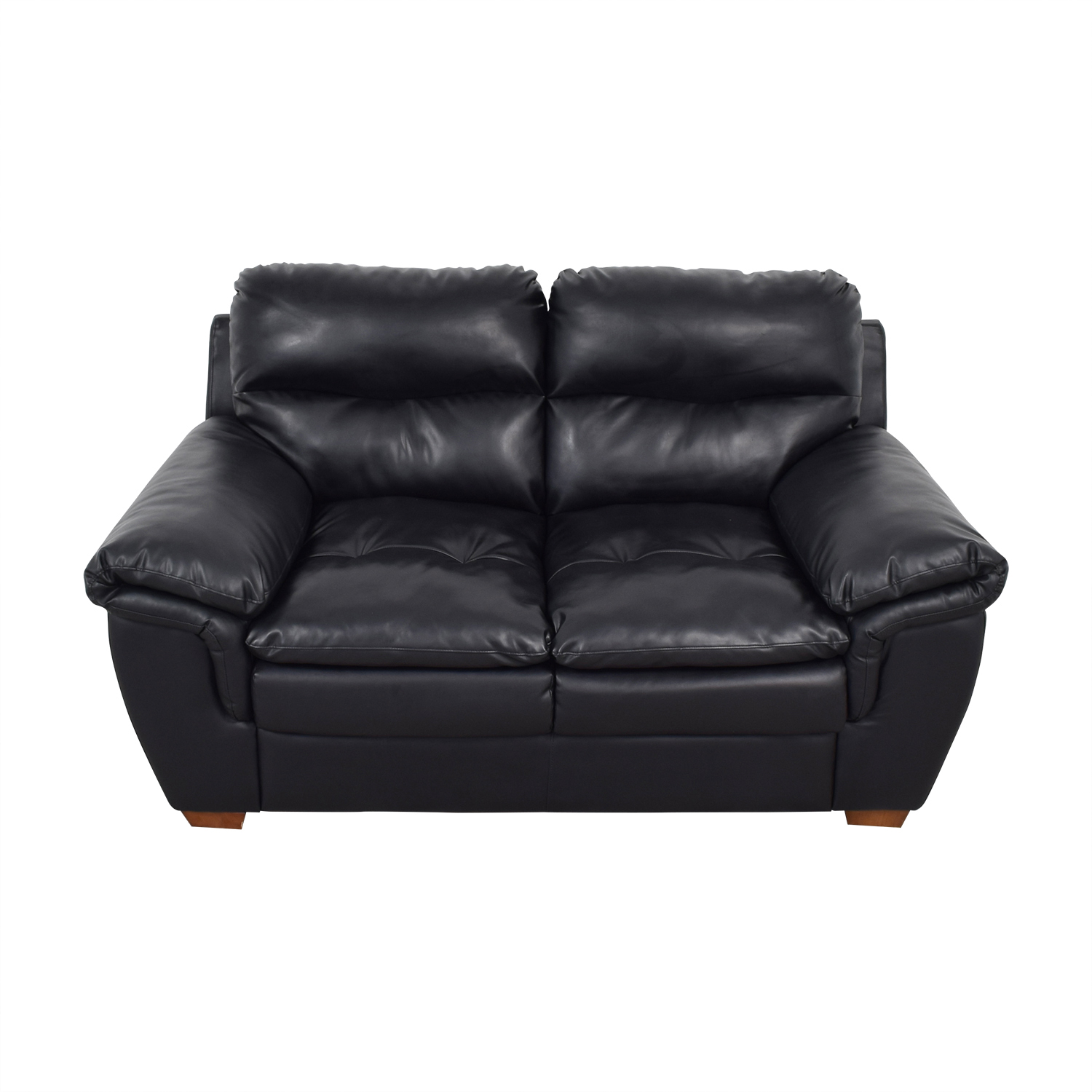 Jennifer Furniture Jennifer Furniture Wilton Black Loveseat nyc