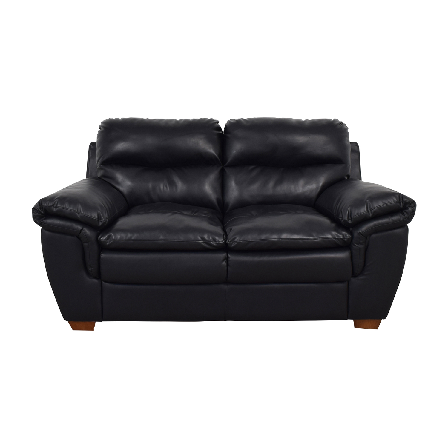 Jennifer Furniture Wilton Black Loveseat sale