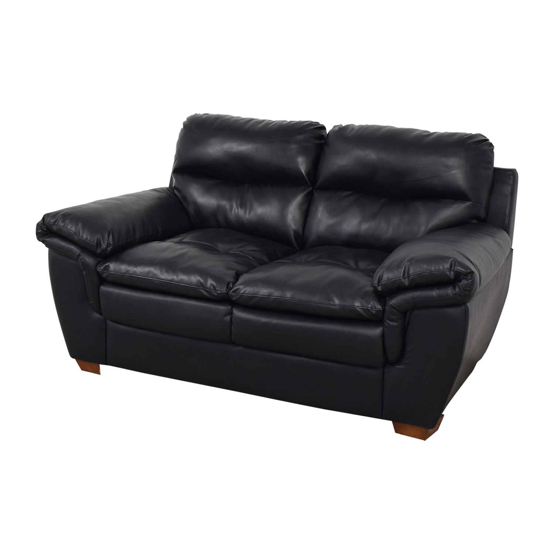 Jennifer Furniture Jennifer Furniture Wilton Black Loveseat on sale