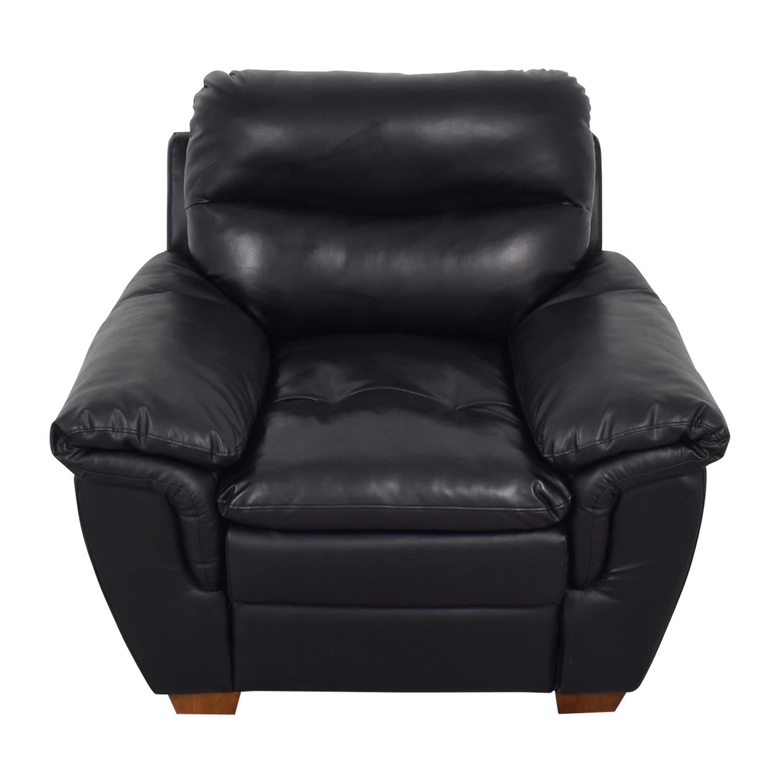 Jennifer Furniture Wilton Black Accent Chair Jennifer Furniture