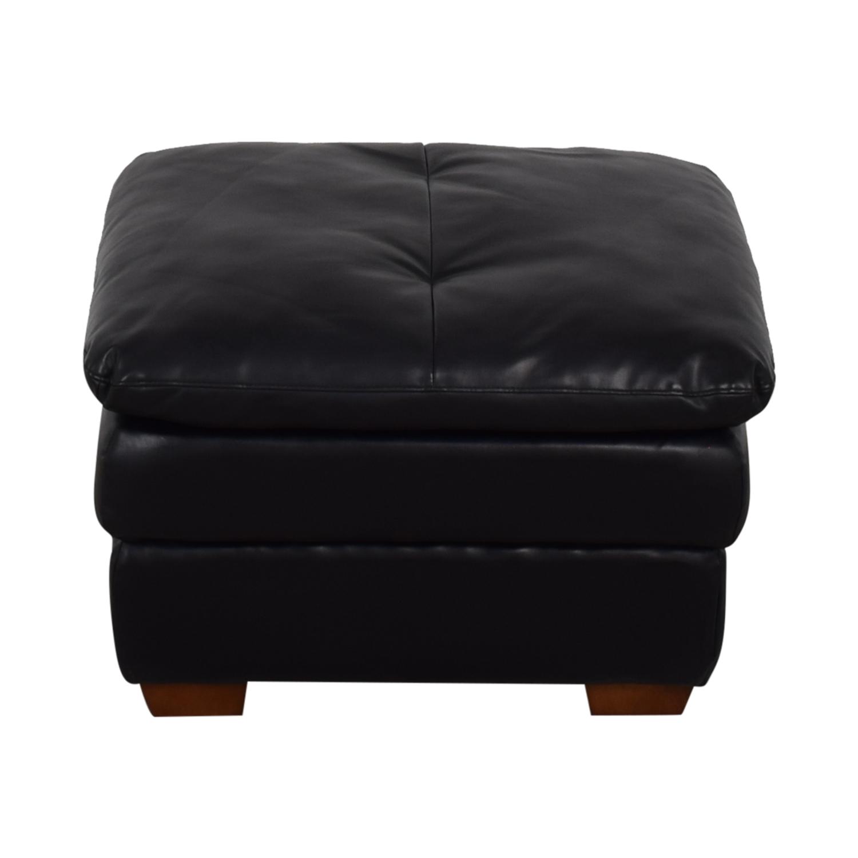 Jennifer Furniture Jennifer Furniture Wilton Black Ottoman dimensions