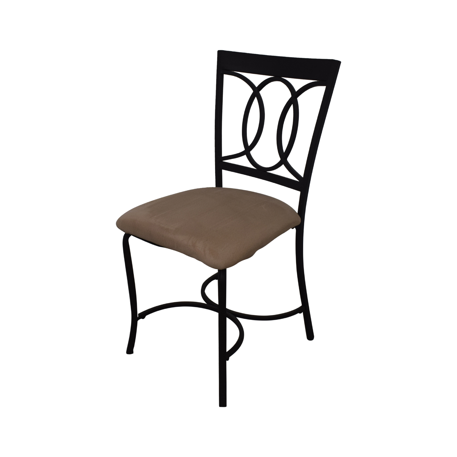 buy Round Glass and Black Dining Set  Tables
