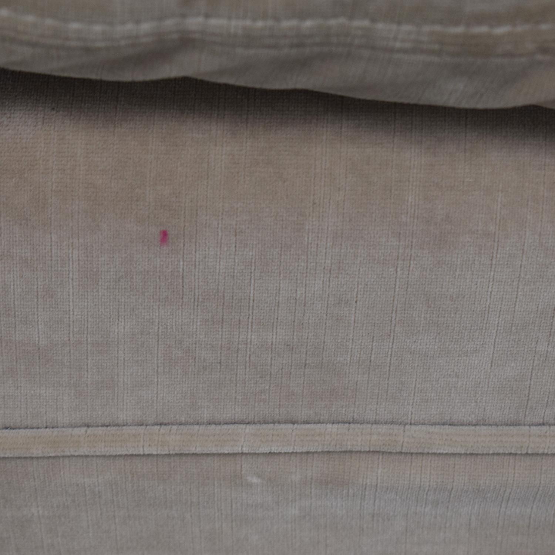 Restoration Hardware Gray English Roll Arm Sofa sale