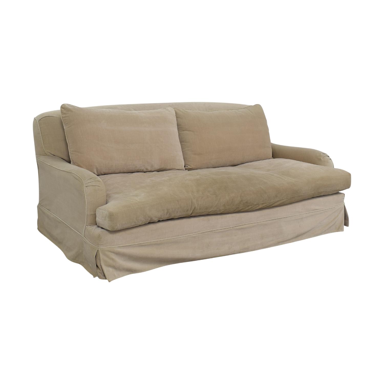 English Roll Arm Sofa: Restoration Hardware Restoration Hardware Gray