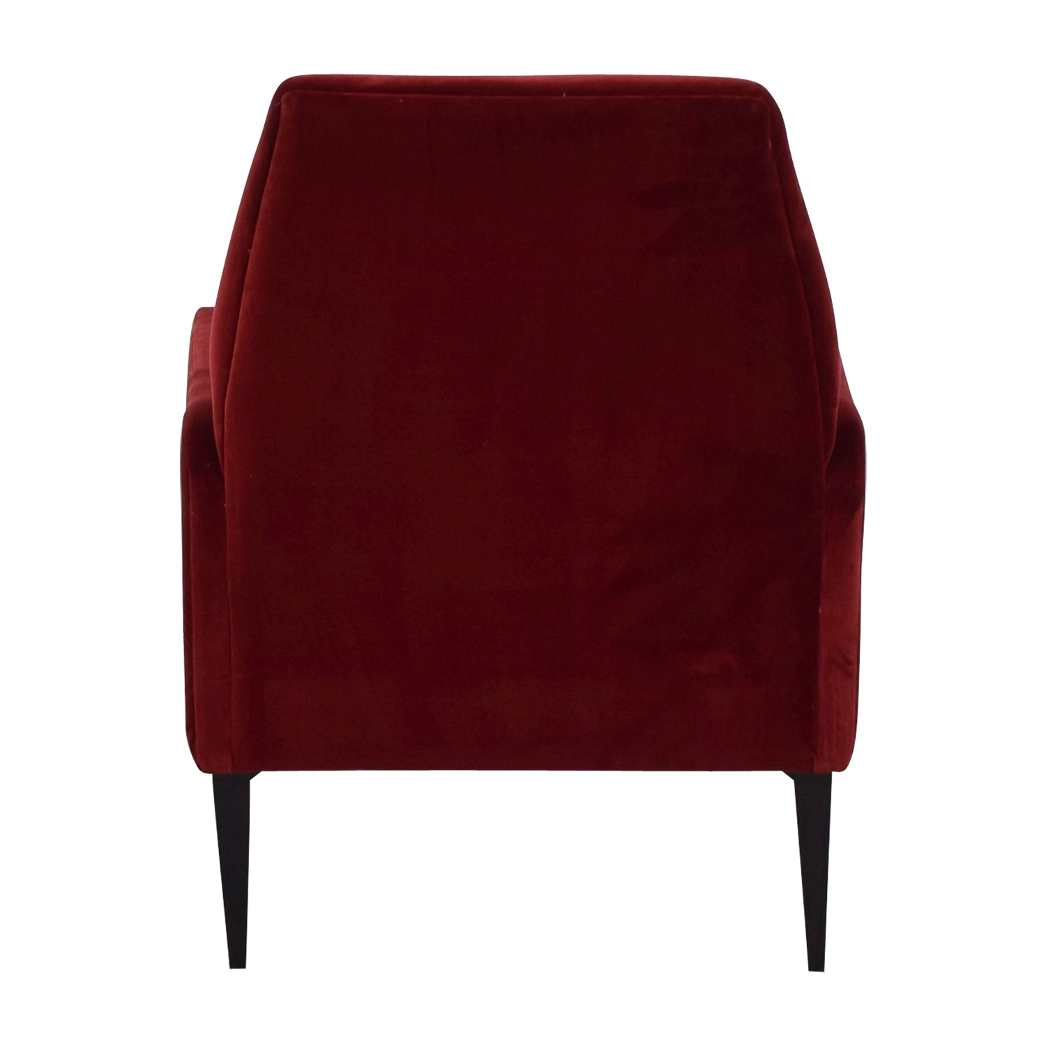 West Elm West Elm Red Velvet Accent Chair for sale