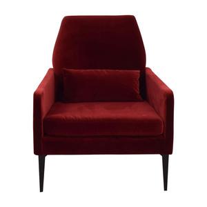 West Elm West Elm Red Velvet Accent Chair second hand